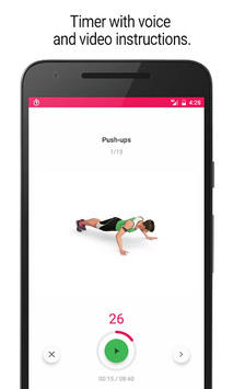 Home Workout - 30 Day Fitness Challenge APK screenshot 1