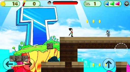 Superhero Titans Go Run Adventure APK screenshot 1