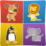 Animals memory game for kids for pc icon