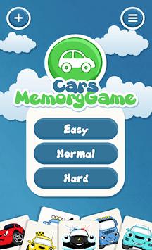 Cars memory game for kids APK screenshot 1