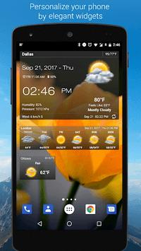 Weather & Clock Widget for Android APK screenshot 1