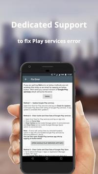 Error fixer for Play services APK screenshot 1