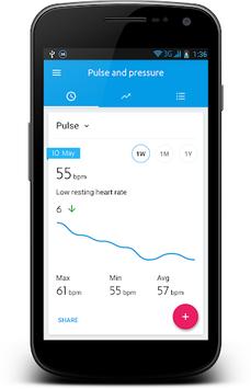 Blood Pressure Diary APK screenshot 1