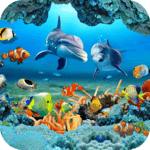 Fish Live Wallpaper 3D Aquarium Background HD 2018 icon