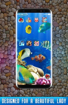 Fish Live Wallpaper 3D Aquarium Background HD 2018 APK screenshot 1