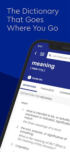 Dictionary.com English Word Meanings & Definitions APK screenshot 1
