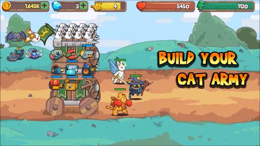 Cat'n'Robot: Idle Defense - Cute Castle TD Game APK screenshot 1