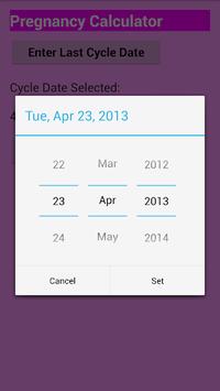Pregnancy calculator APK screenshot 1