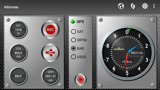 Altimeter & Altitude Widget APK screenshot 1
