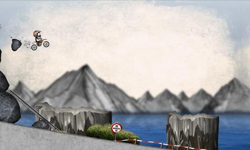 Stickman Downhill Motocross APK screenshot 1
