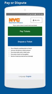 NYC Parking Ticket Pay or Dispute APK screenshot 1