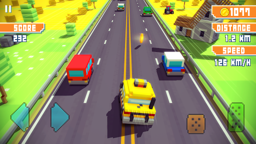 Blocky Highway: Traffic Racing APK screenshot 1