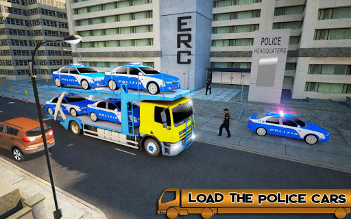 US Police Car Transport:Cargo Truck Games APK screenshot 1