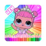 Coloring Book Surprise Dolls, LoL icon