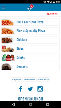 Domino's Pizza América Latina APK screenshot 1