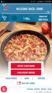 Domino's Pizza USA APK screenshot 1