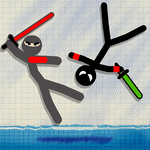 Stickman Fighting games - 2 player Warriors Games icon