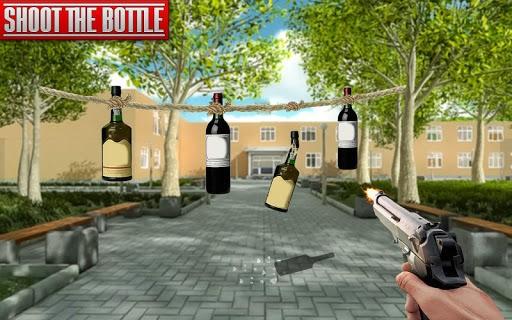 Real Bottle Shooting Free Games APK screenshot 1
