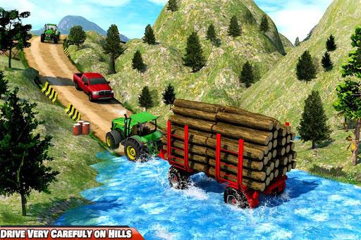 Drive Tractor Offroad Cargo- Farming Games APK screenshot 1