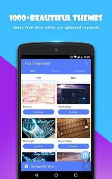 Flash Keyboard - Emoji & Theme APK screenshot 1