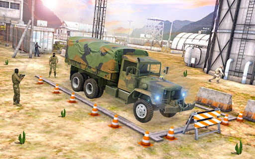indian army truck driving: military truck mission APK screenshot 1