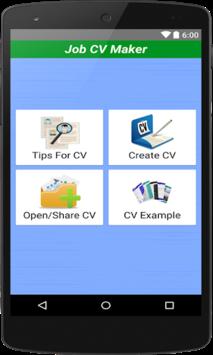 Job CV Maker & Portfolio Maker APK screenshot 1