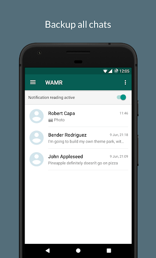 WAMR - Recover deleted messages & status download APK screenshot 1