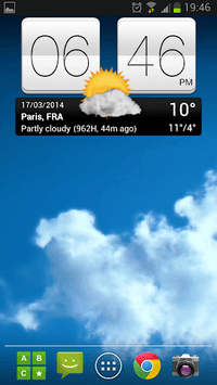 Sense V2 Flip Clock & Weather APK screenshot 1