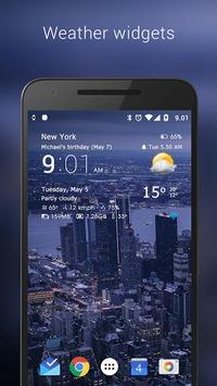 Transparent clock & weather APK screenshot 1