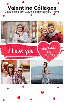 Love Collage : Photo Editor , Pic collage maker APK screenshot 1