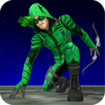 Superhero Green Arrow Archery Assassin icon