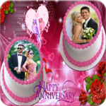 Anniversary Cake Dual Photo Frame icon