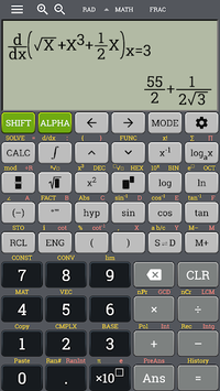 School scientific calculator 500 es plus 500 ms APK screenshot 1