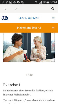 DW Learn German - A1, A2, B1 and placement test APK screenshot 1
