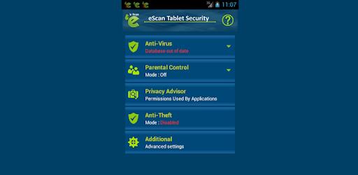 eScan Tablet Security pc screenshot