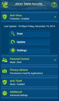 eScan Tablet Security APK screenshot 1