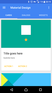 Material Design Demo APK screenshot 1
