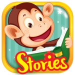 Monkey Stories: books, reading games for kids icon