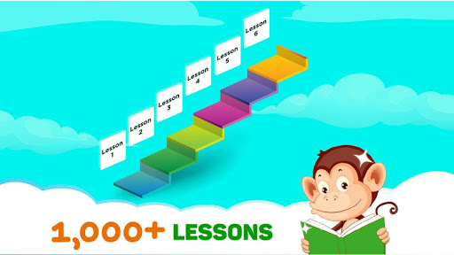 Monkey Junior: Learn to read English, Spanish&more APK screenshot 1