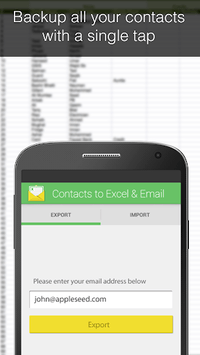 Contacts Backup--Excel & Email APK screenshot 1