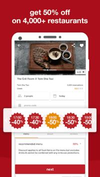 eatigo – discounted restaurant reservations APK screenshot 1