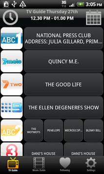 TV & Movie Guide Australia APK screenshot 1