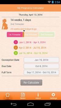 My Pregnancy Calculator APK screenshot 1