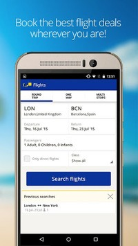 eDreams-Flights, Hotels & Cars APK screenshot 1