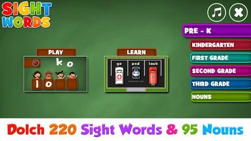 Sight Words  Pre-K to Grade-3 APK screenshot 1