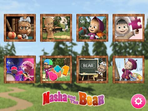 Masha and the Bear. Educational Games APK screenshot 1