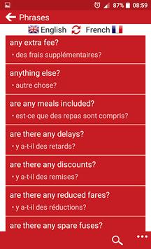 French - English APK screenshot 1