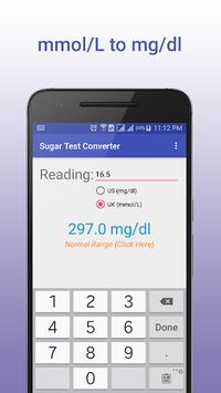 Sugar Test Converter APK screenshot 1