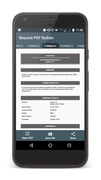 Resume PDF Maker APK screenshot 1