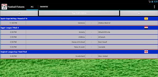 Football Fixtures pc screenshot